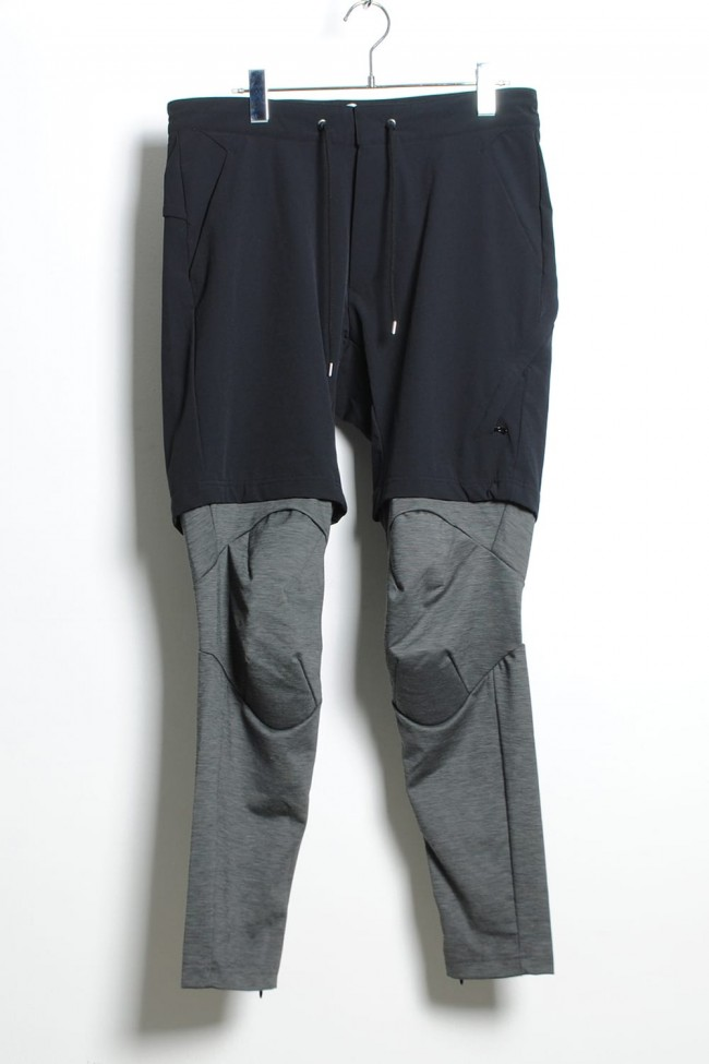 SURVIVAL LAYERED PANTS - BLACK x CHARCOAL