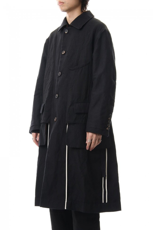 Wool Linen Soutien Collar Coat
