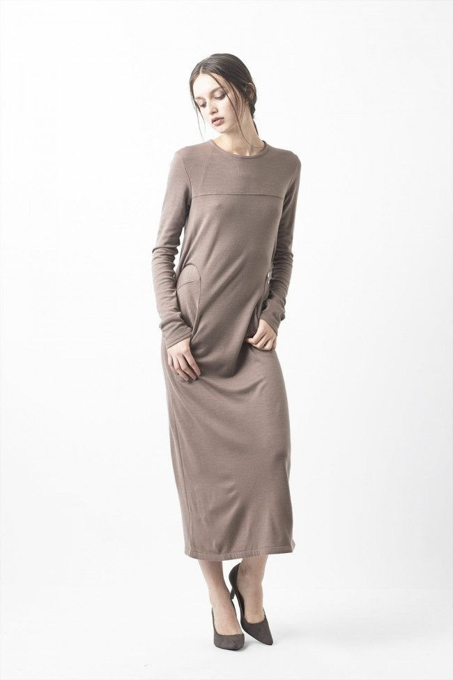 Wool Super 120's MIlan Rib Dress -  CS05-D02