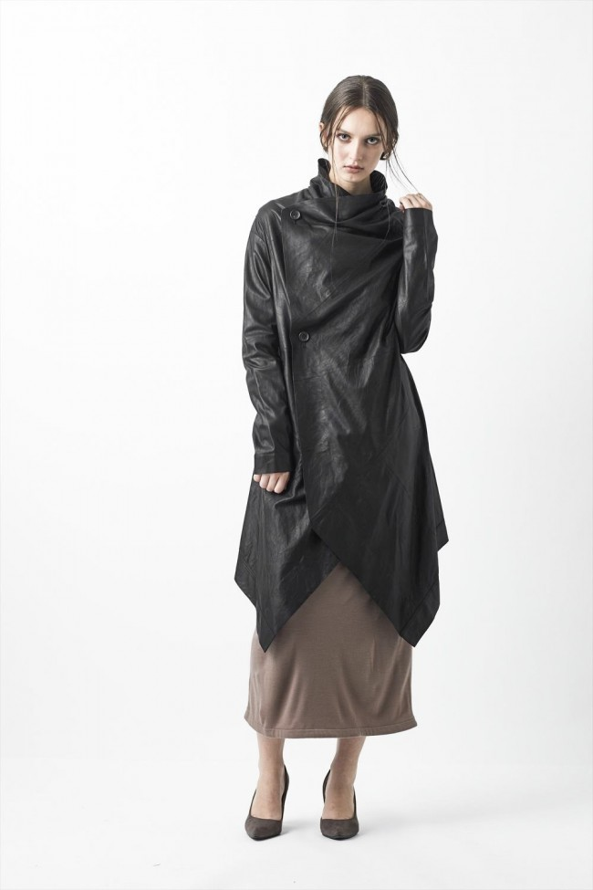 Goat Kid Ultra Light Leather Coat - L01-H01
