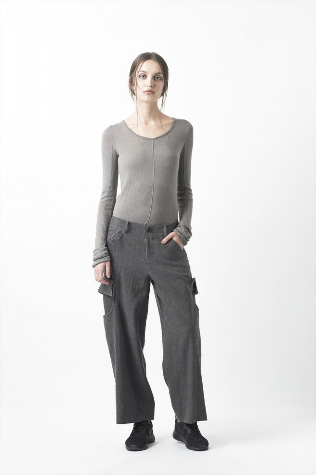 Wool linen cotton Washed Cloth Cargo Pants