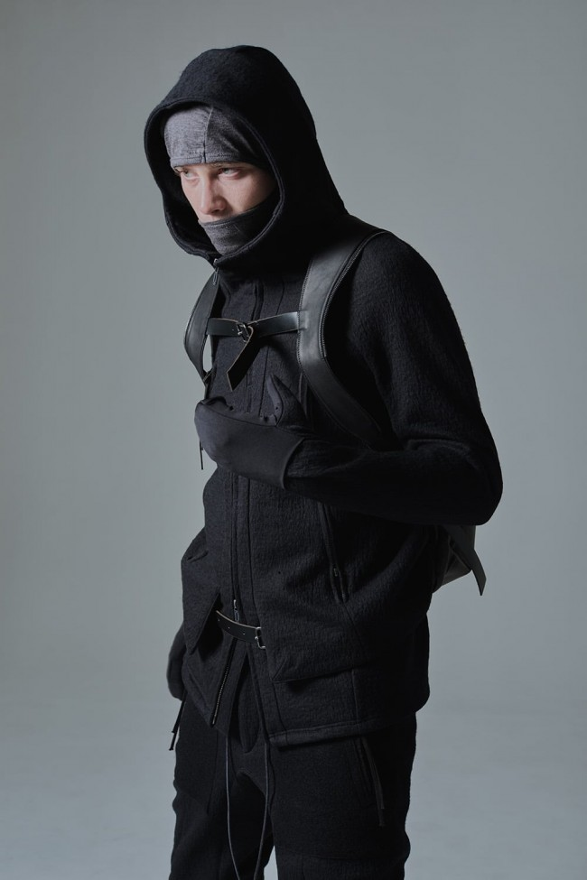 Vest layered Glove Hooded jacket - ST101-0039A