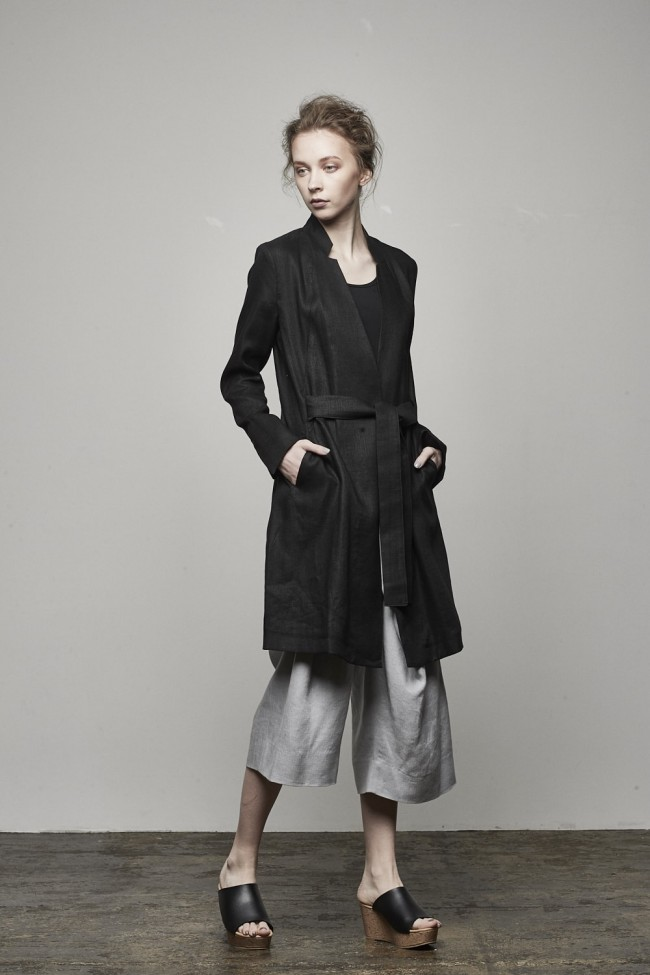 Silk Linen Deformed Herringbone Coat - DK11-09-C01