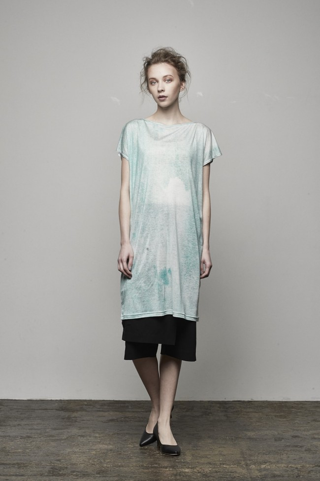 """Gradation"" Print / 30 Tencel Jersey One-piece Dress - DK11-CS02-O03"