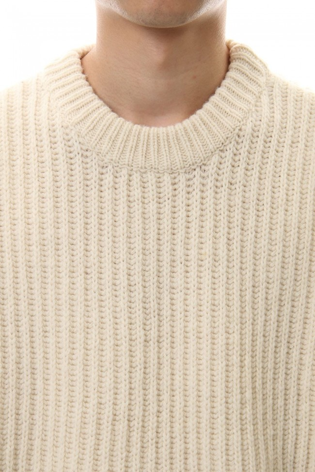 ZIP KNIT TOPS White