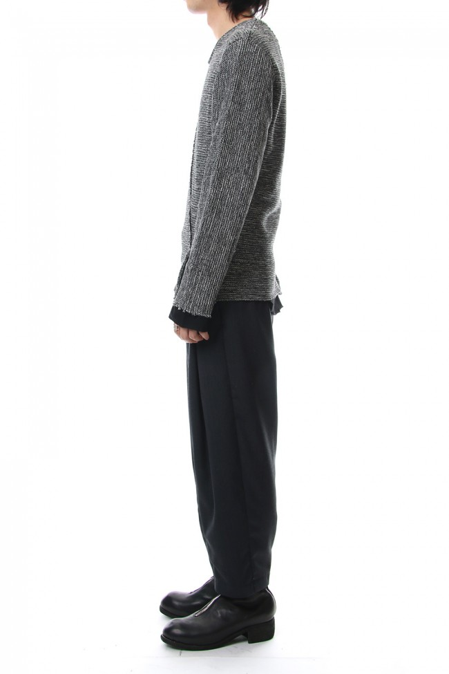 Layered Slash Knit - MIX/BLK