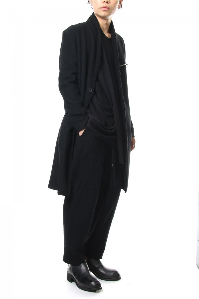 2way Collar Coat - blk