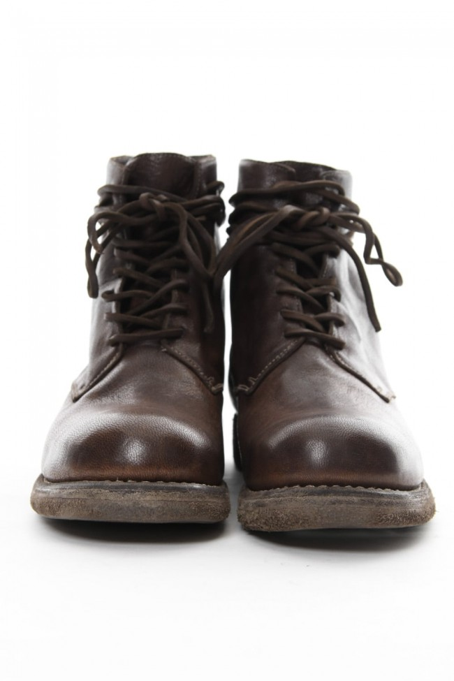 Military Lace Up Boots Double Sole - 5305N - Goat Full Grain Leather