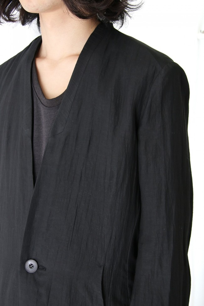 Collarless Tailored Jacket