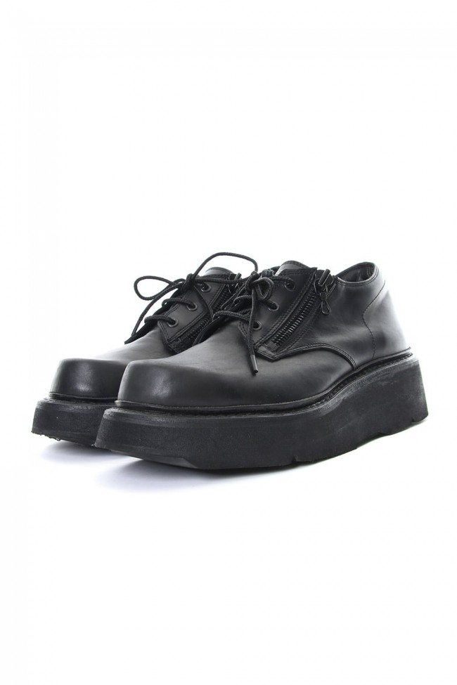 DOUBLE ZIP THICK-SOLED SHOES Black