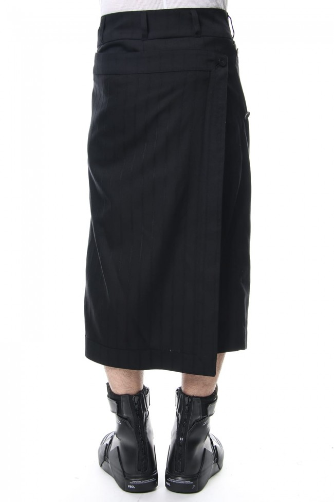 ATTACHED SKIRT TROUSERS Stripe