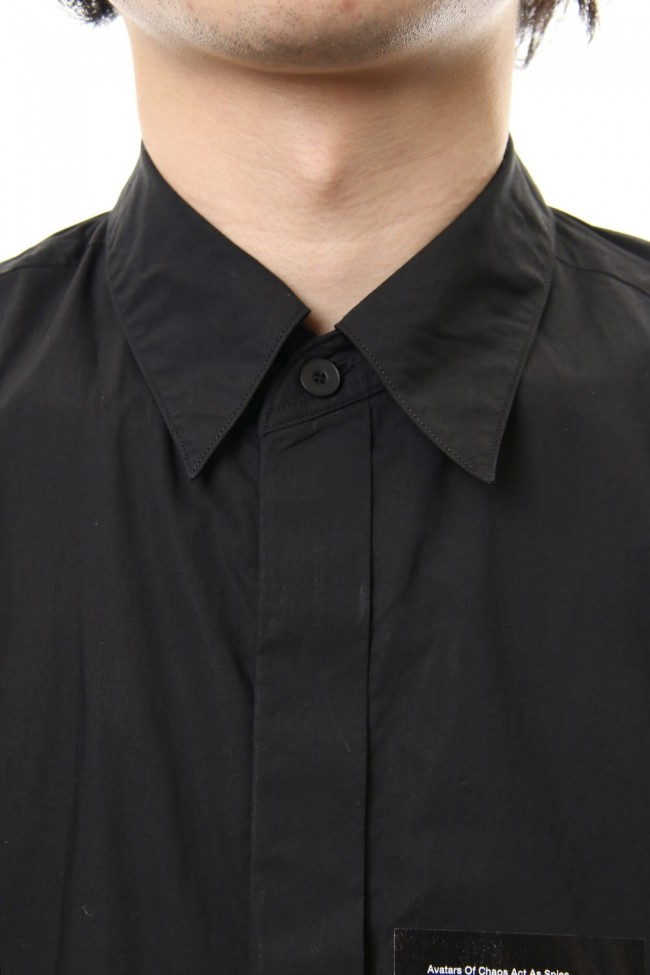 PRINT DROP SHOULDER SHIRT Black
