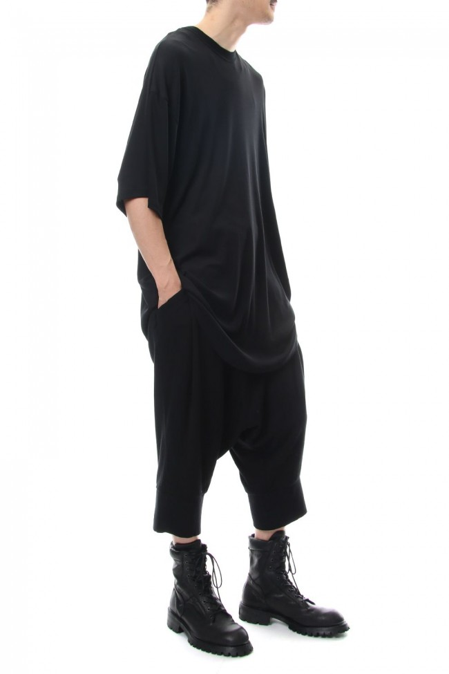 ROUND BIG T-SHIRT Black