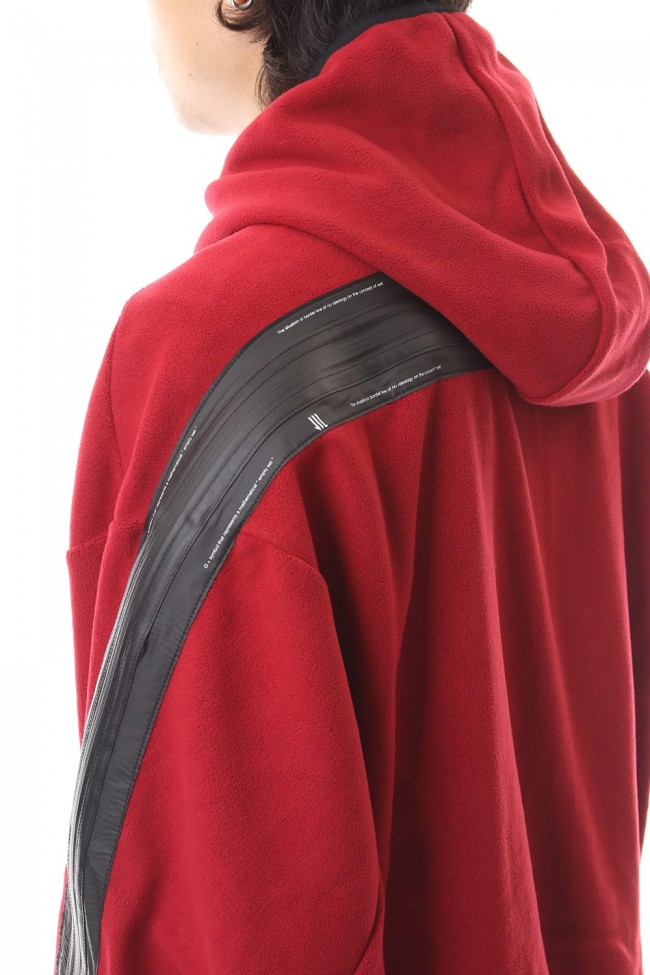 SLASHING ZIP HOODIE Red