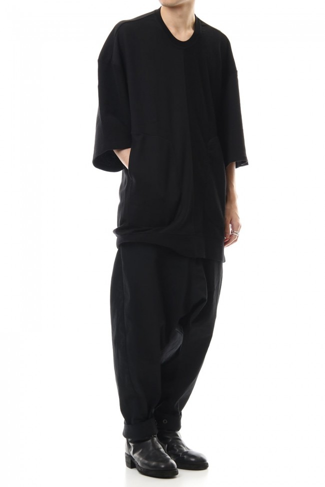 LOW CROTCH BAGGY PANTS Black
