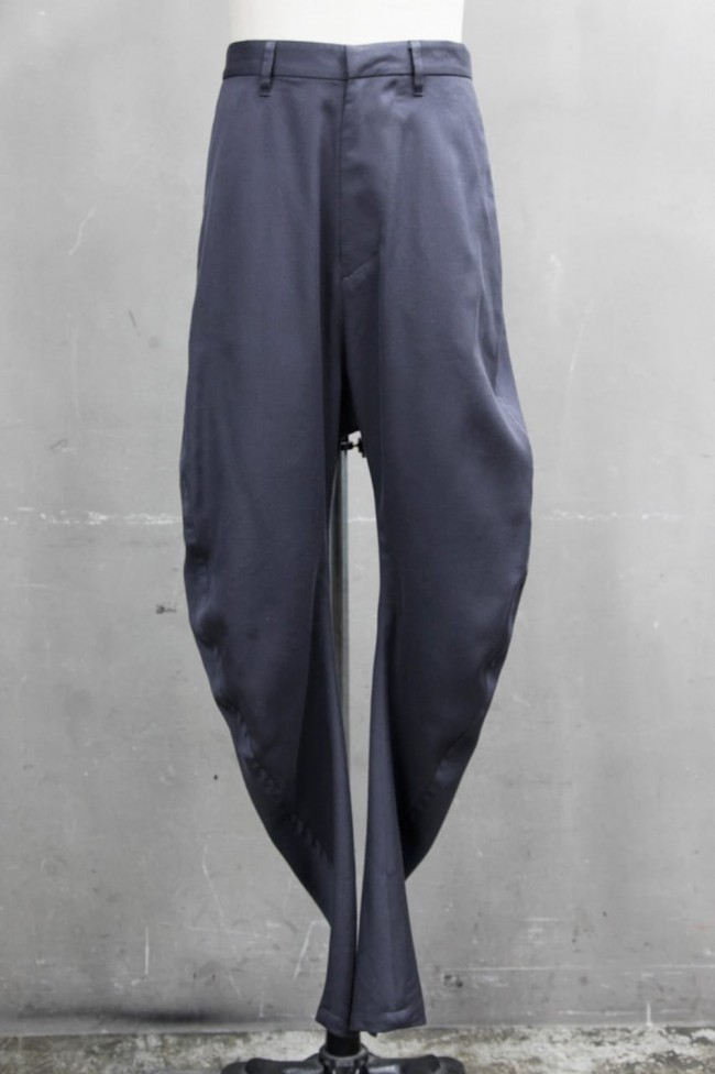 CURVED TROUSERS Blue Gray