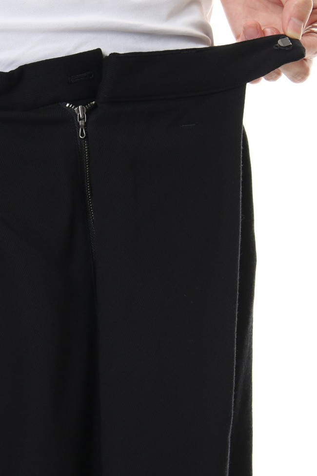FOLDED BAGGY TROUSERS Black