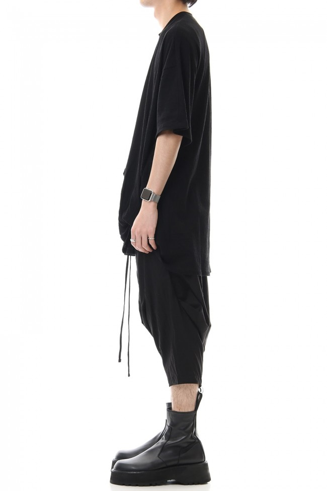 Drape S/S cut & sewn Black