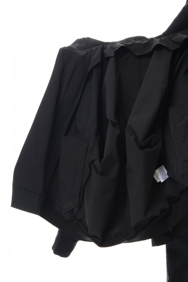 High-neck blouson Black