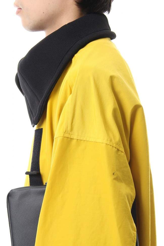 High-neck blouson Yellow