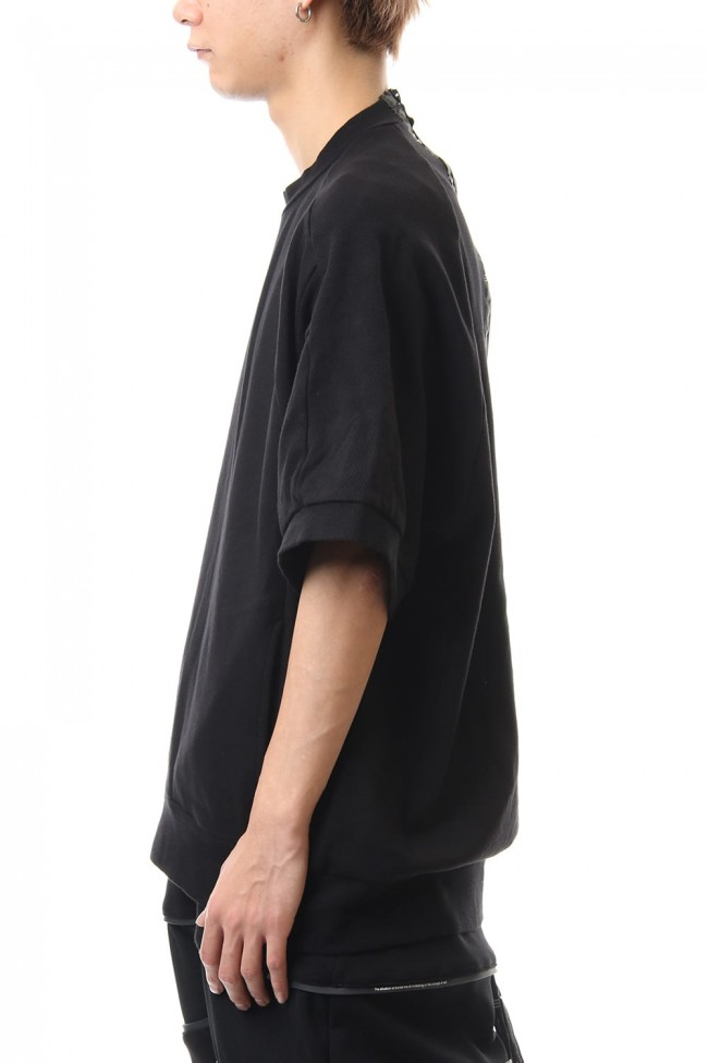 Big sleeve cut&sewn Black