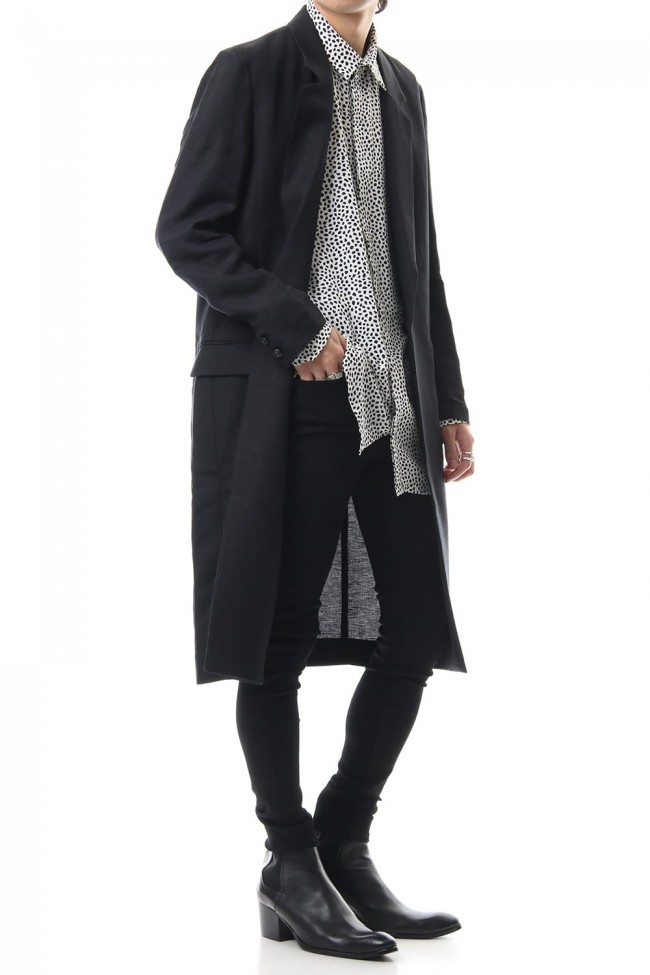 Ry/L Easy cross bio washer long jacket Black