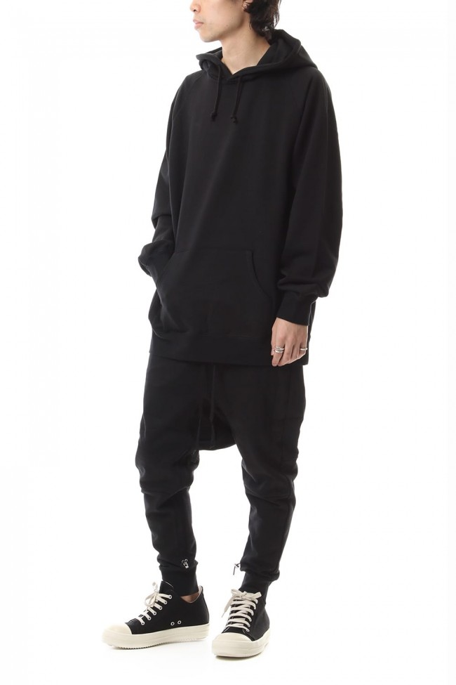 Middle fleece hoodie Black