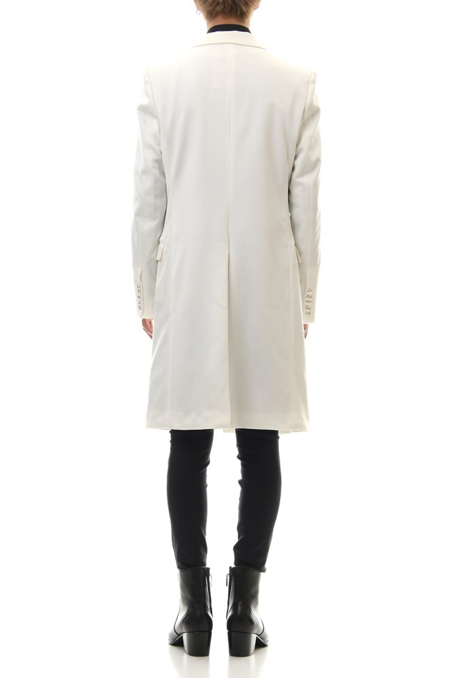 Hybrid French Twill Long Jacket (Off White)