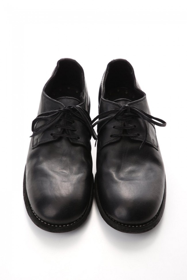 Classic Derby Shoes Laced Up Single Sole - Horse Full Grain - 992X