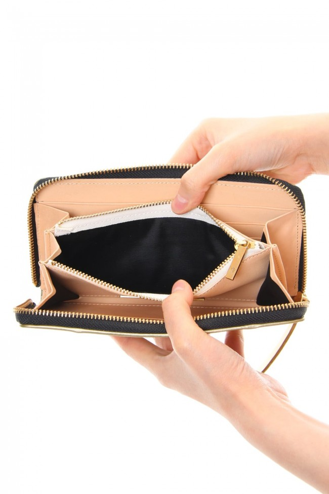 STAR Invisible Long Wallet Pink