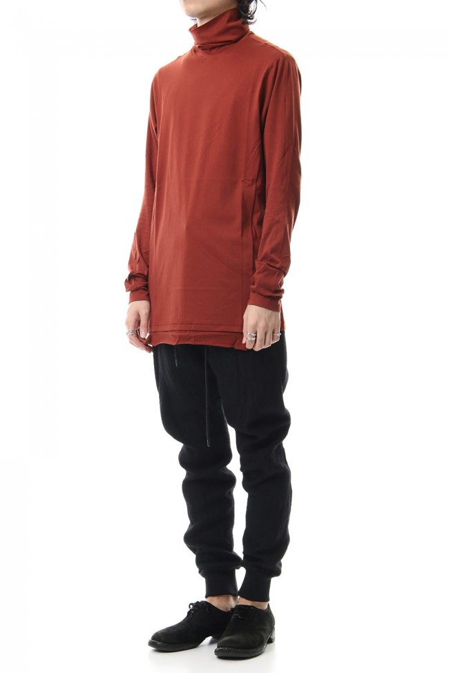 High neck long sleeve indian cotton jersey (SUVIN)