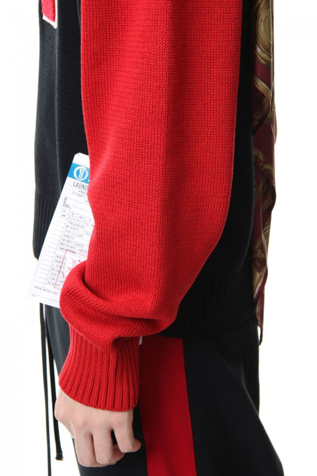 Scarf Knit Pullover