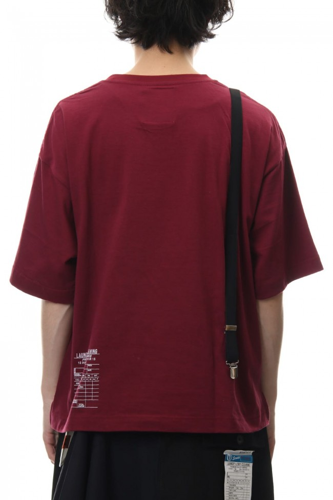 Suspenders T-shirt Red