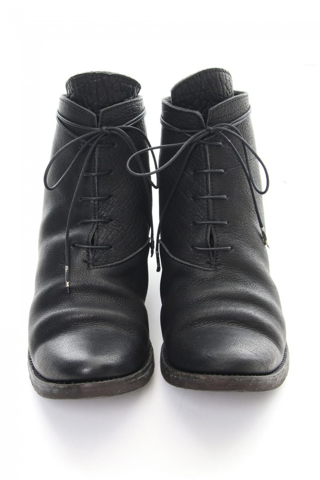 Buffalo leather lace up boots - ST109-0420S