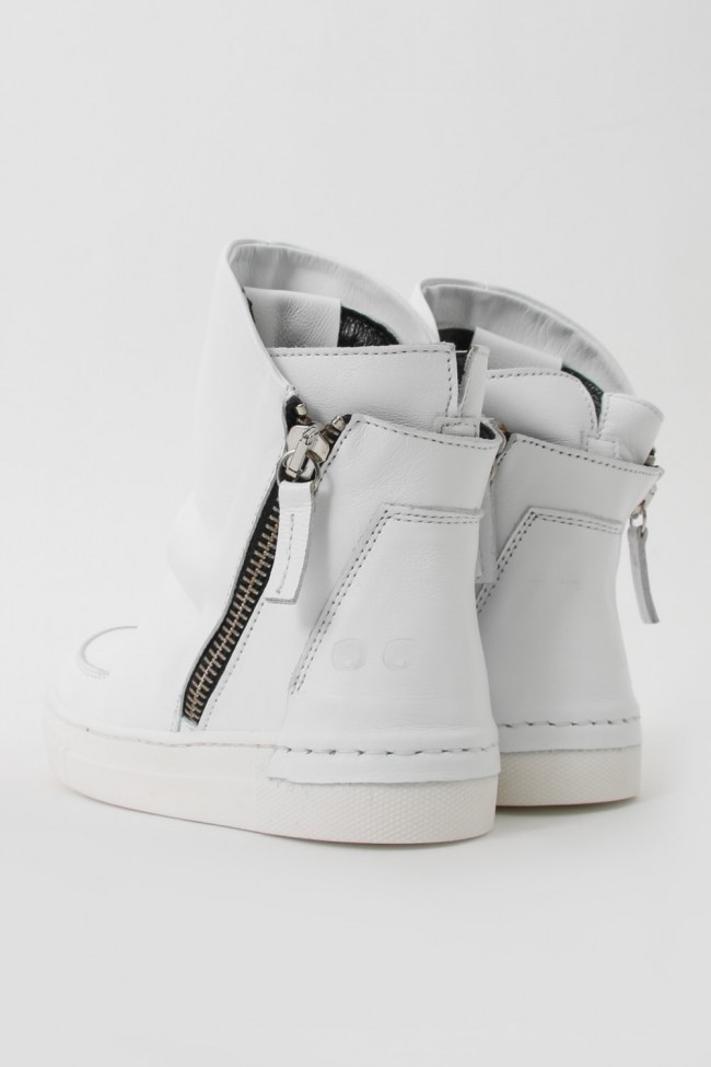 "16AW ARAIA KIDS ""JOY COLORS"" NERO Layered Side Zip Sneakers WHITE SIZE 26(2〜3Years old)"