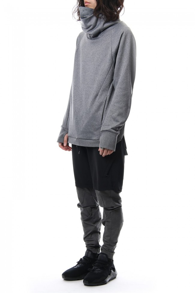 COVERED NECK L/S