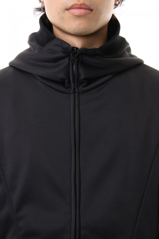 ZIP UP VACUUM NECK PARKA BLACK