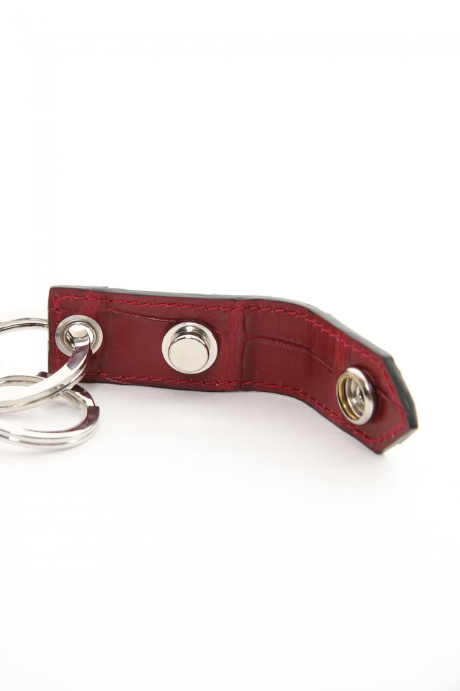 Buckle Ring - Crocodile Red × Silver