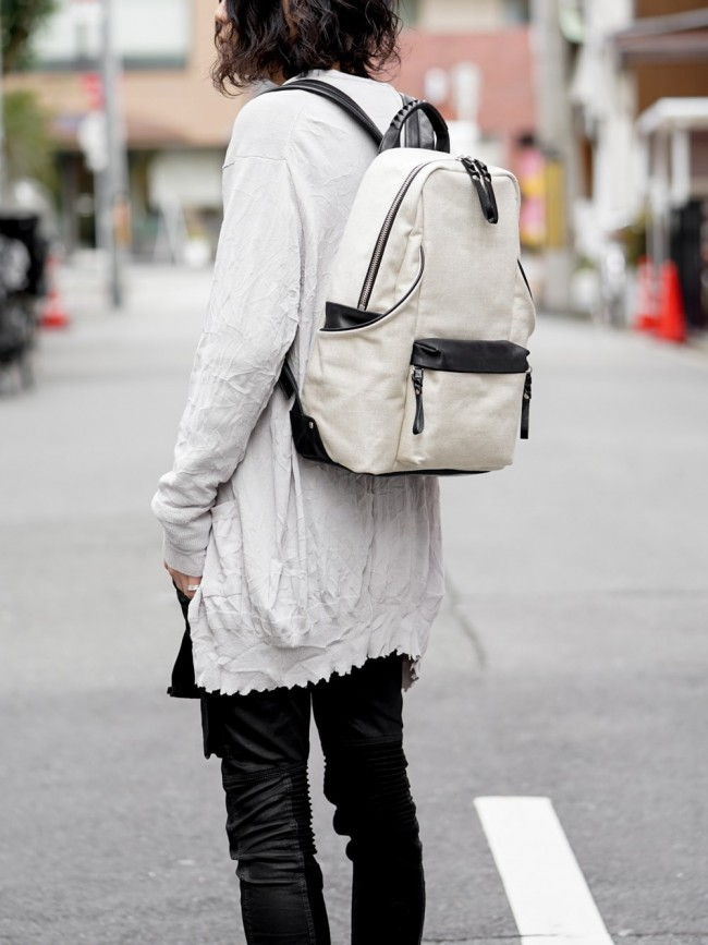 tower Ruck - Linen×Steer Leather Natural