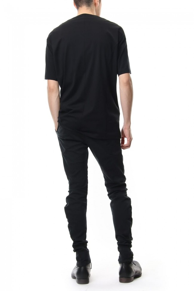 Short sleeve 2/80 Cotton jersey Loose fit - Black