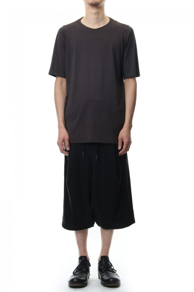 Short sleeve 2/80 Cotton jersey Loose fit - Purple Gray