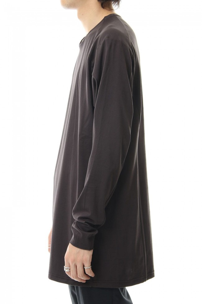 Long sleeve loose fit 80/2 cotton jersey