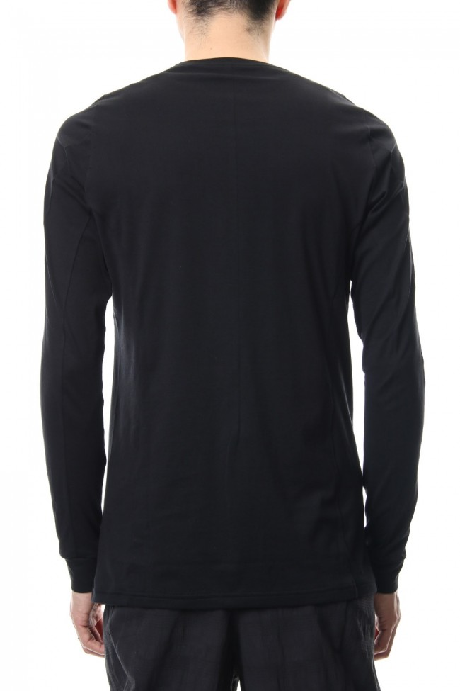 Long sleeve Indian cotton jersey ( SUVIN ) - Black