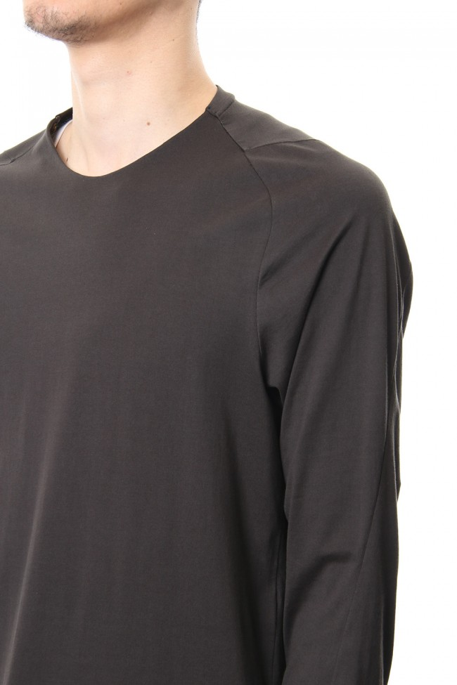 Long sleeve Indian cotton jersey ( SUVIN ) - Grape Gray