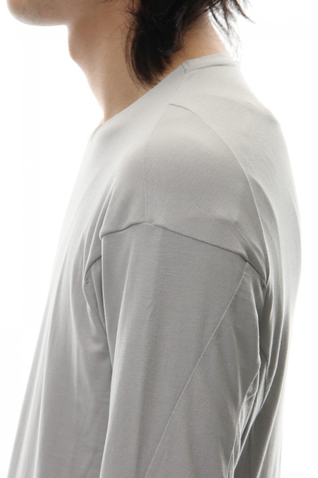 Long sleeve cotton stretch jersey - Plaster