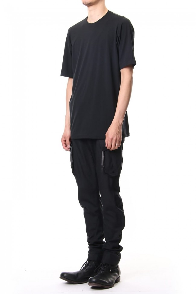 Short sleeve Cotton stretch jersey Loose fit - Black
