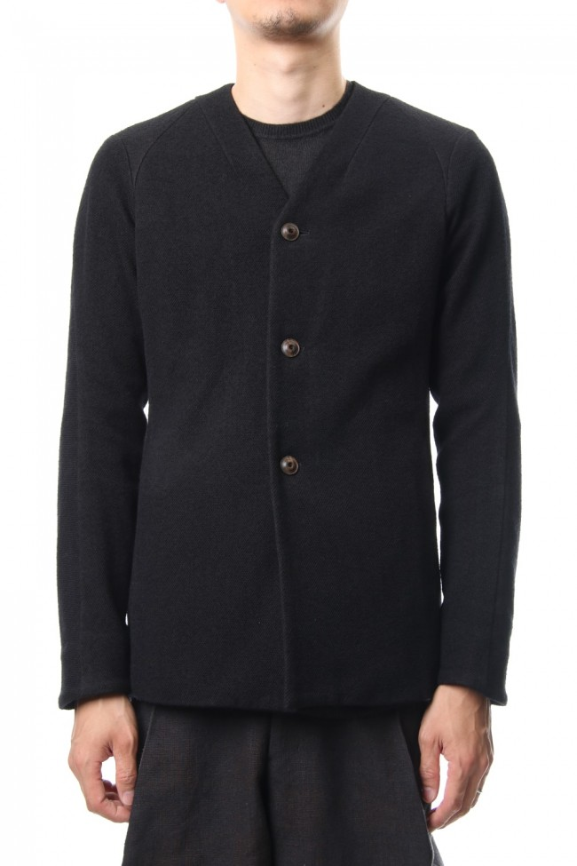 Jacket Wool / Cotton Raschel Knit Blue Black