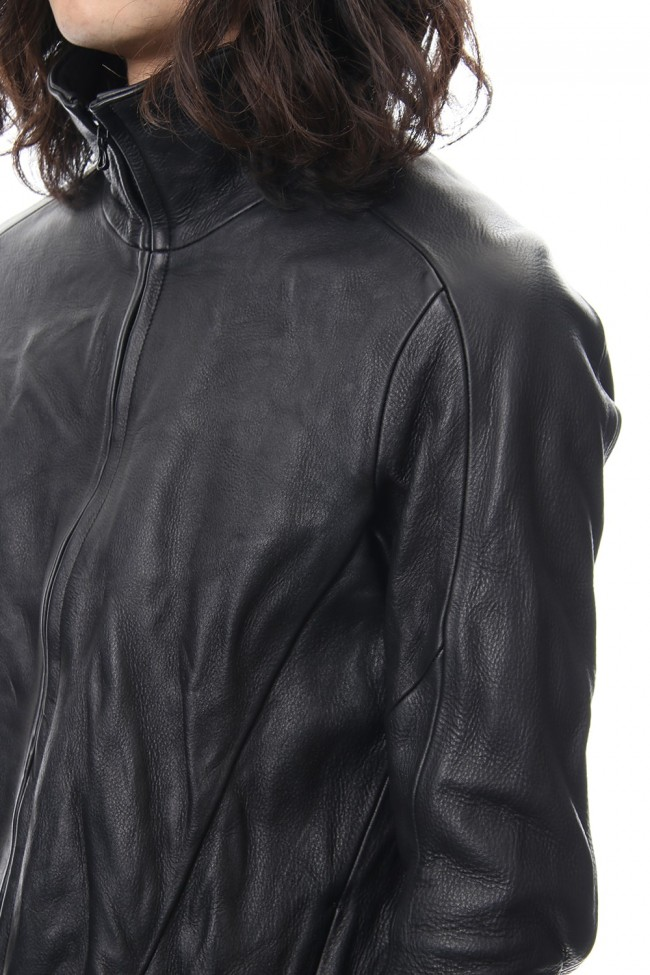 LEATHER TRACK JACKET