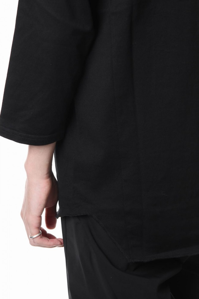 U NECK 3/4 SLEEVE Black
