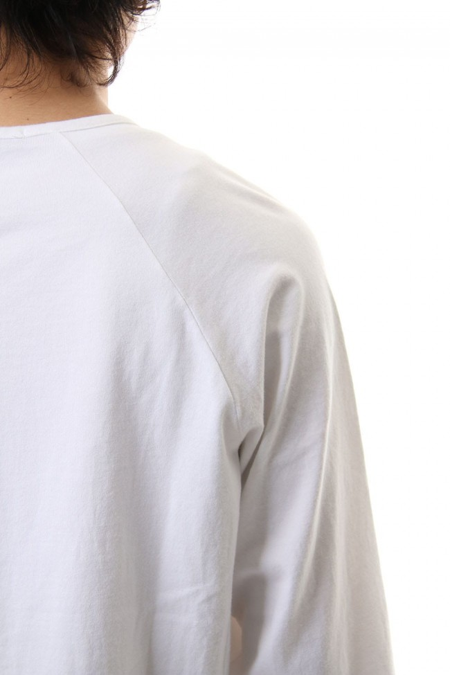 U NECK 3/4 SLEEVE White